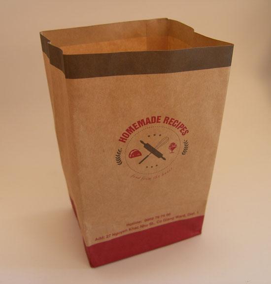 Túi giấy Kraft đựng bánh mì, khoai tây chiên